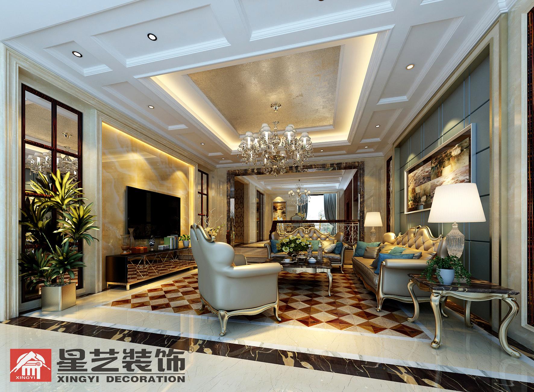 别墅 中式 星艺装饰 新古典 客厅图片来自星艺装饰在贵州在星艺装饰·别墅设计的分享