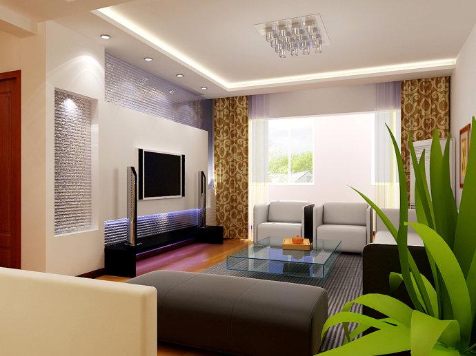 武汉实创 城投瀚城 简约 二居 收纳 客厅图片来自静夜思在城投瀚城现代简约麦田绿色的分享