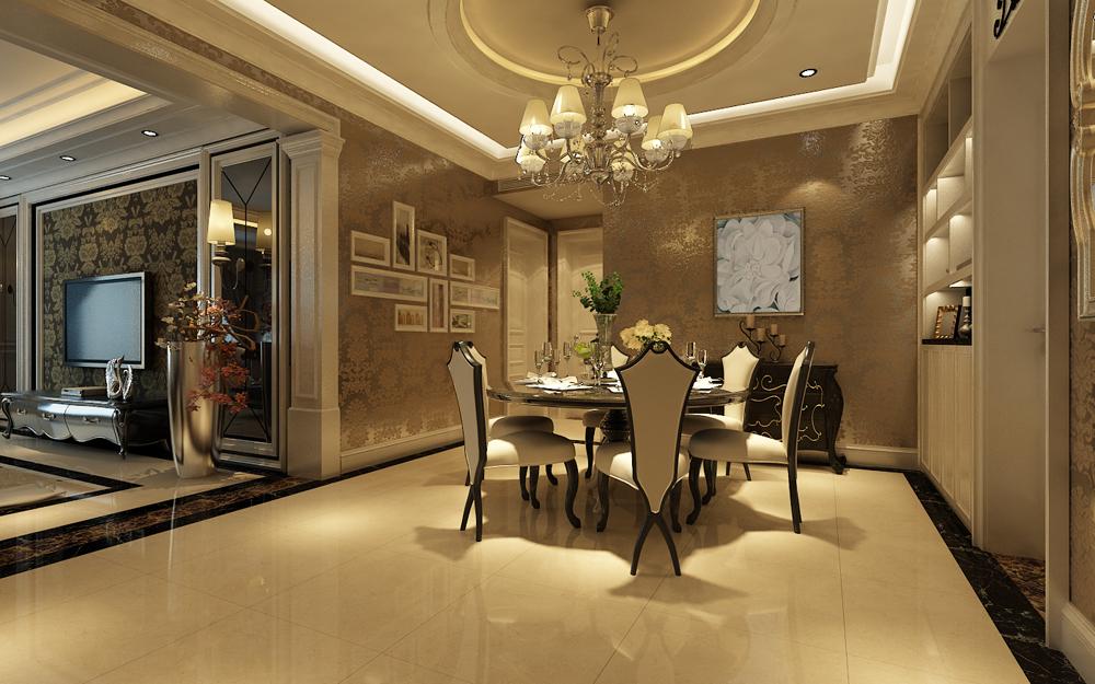 奢华 餐厅图片来自东易力天装饰公司在富丽奢华的分享