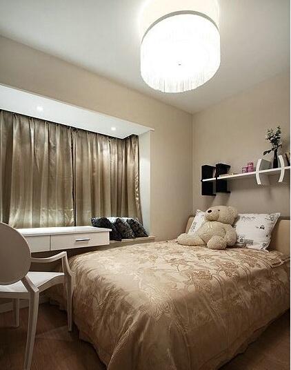 三居 简约 婚房 咖色 卧室图片来自实创装饰小辣椒在139平奶咖色温馨婚房装修的分享