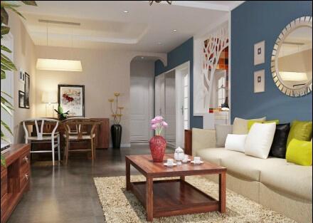 二居 混搭 客厅图片来自今朝装饰小俊在美然百度城的分享