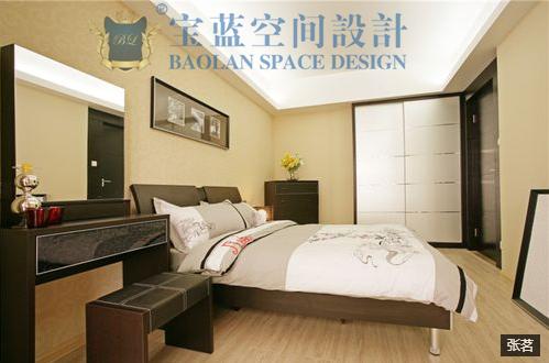 简约 三居 卧室图片来自众意装饰在百瑞景中央生活区现代简约案例的分享