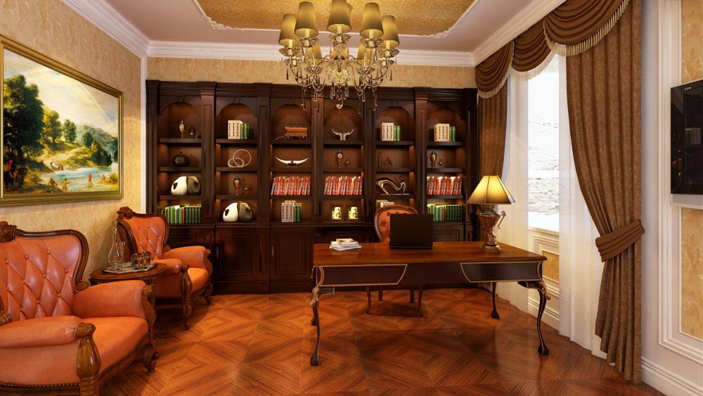 运河湾 三居室 简欧风格 高度国际 装饰设计 书房图片来自高度国际装饰宋增会在三居室130简欧风格的分享
