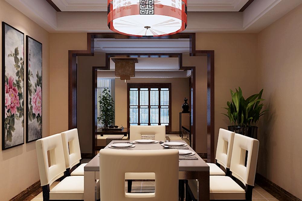 别墅 中式 餐厅图片来自石家庄业之峰装饰在天山新公爵简中风格240平米的分享