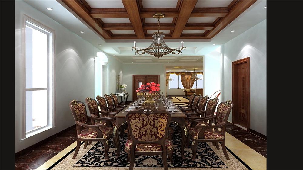 御墅临风 三居室 简约欧式 高度国际 装饰设计 餐厅图片来自高度国际装饰宋增会在8.5万三居室简约欧式的分享