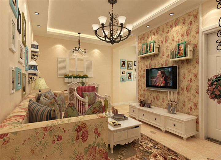 田园 客厅图片来自郑州实创装饰-杨淑平在阳光城-78平-田园风格装修设计的分享