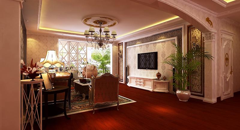 客厅图片来自潍坊万泰装饰在安丘御景园160平欧式风格的分享