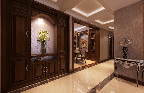玄关图片来自潍坊万泰装饰在160平奢华美式的分享