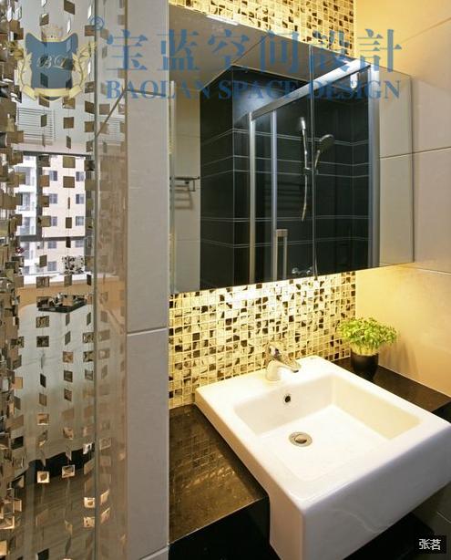 简约 三居 卫生间图片来自众意装饰在百瑞景中央生活区现代简约案例的分享