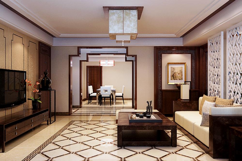 别墅 中式 客厅图片来自石家庄业之峰装饰在天山新公爵简中风格240平米的分享