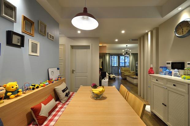 三居 简约 旧房改造 小资 餐厅图片来自孙进进在135平米三房改四房自然清新的分享