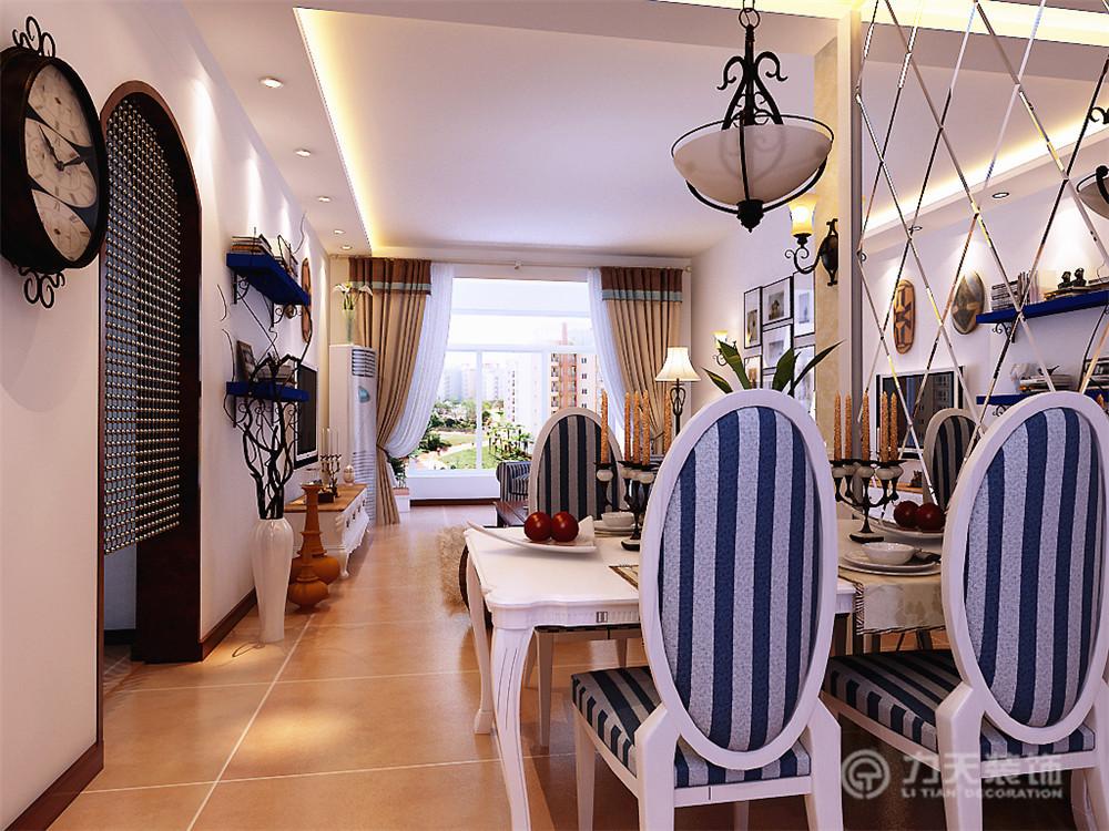 地中海 三居 收纳 白领 80后 小资 餐厅图片来自阳光力天装饰在金隅悦城-96㎡-地中海风格的分享