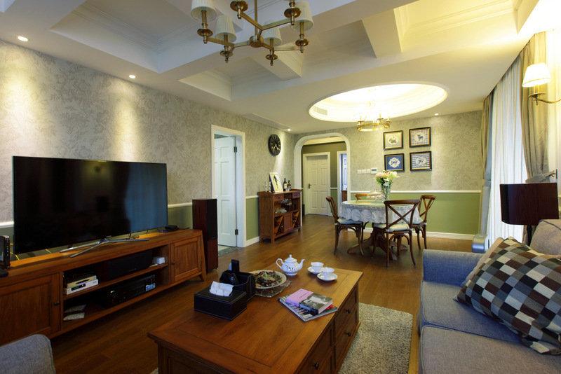 美式 皖匠装饰 家装 客厅图片来自合肥皖匠装饰朱兴美在97平两房两厅温馨而有爱的家的分享