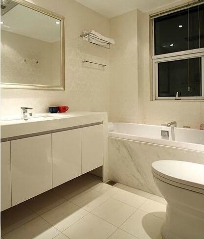 三居 简约 婚房 咖色 卫生间图片来自实创装饰小辣椒在139平奶咖色温馨婚房装修的分享