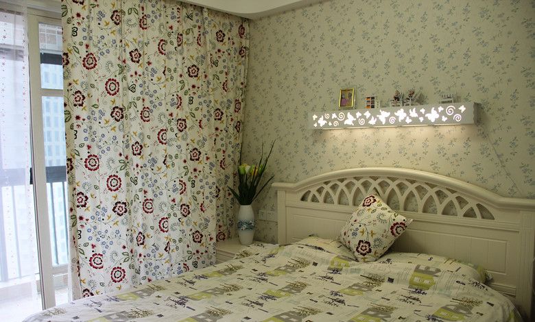 地中海 皖匠装饰 80平 卧室图片来自合肥皖匠装饰朱兴美在80平地中海风—夏日清凉的分享