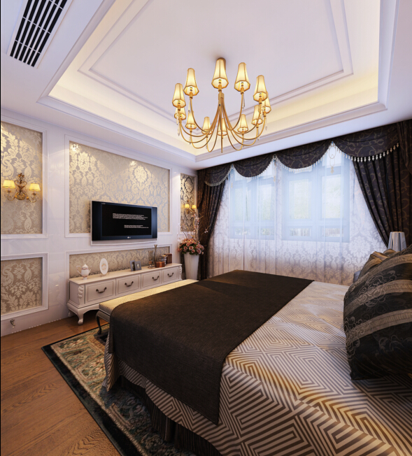 山水装饰 合肥家装 卧室图片来自shanshui在新艺术时代诠释精致生活的分享