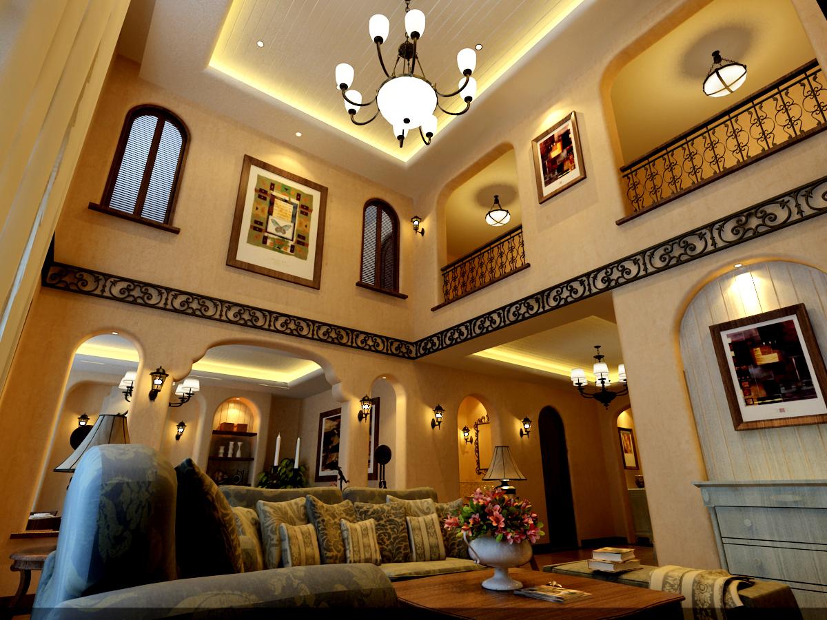 客厅图片来自潍坊万泰装饰在地中海温情别墅的分享