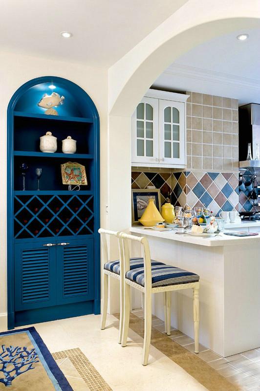 二居 旧房改造 80后 小资 地中海风格 今朝装饰 厨房图片来自北京今朝装饰在两居室蓝白地中海风格的分享