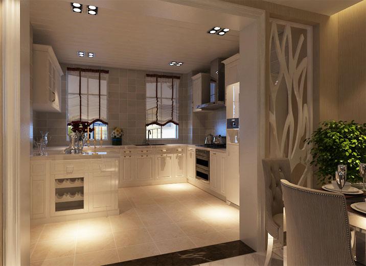 现代黑白搭 110平米 装修效果图 现代奢华风 厨房图片来自上海实创-装修设计效果图在110平米汇智湖畔家园现代黑白搭的分享
