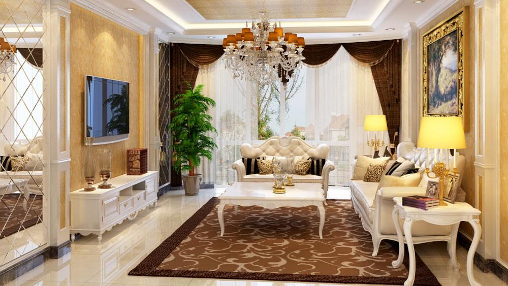 运河湾 三居室 简欧风格 高度国际 装饰设计 客厅图片来自高度国际装饰宋增会在三居室130简欧风格的分享