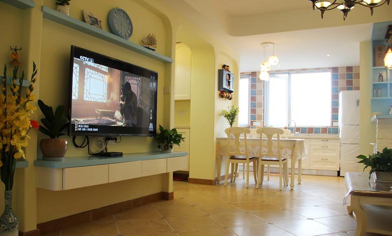 地中海 皖匠装饰 80平 客厅图片来自合肥皖匠装饰朱兴美在80平地中海风—夏日清凉的分享