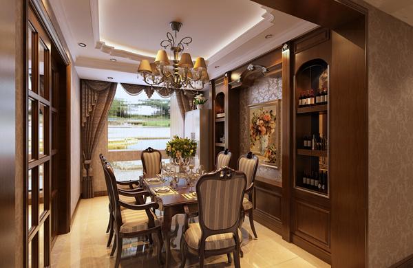 餐厅图片来自潍坊万泰装饰在160平奢华美式的分享