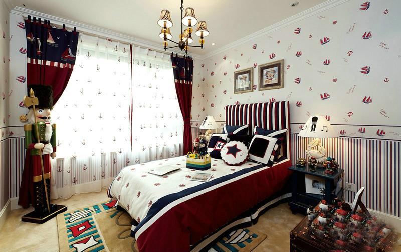 二居 旧房改造 80后 小资 地中海风格 今朝装饰 卧室图片来自北京今朝装饰在两居室蓝白地中海风格的分享