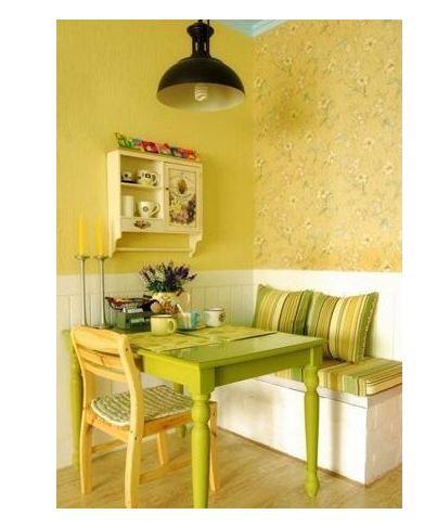 田园 欧式 简约 小户型 餐厅图片来自天合营造在小户型餐厅卡座式装修的分享
