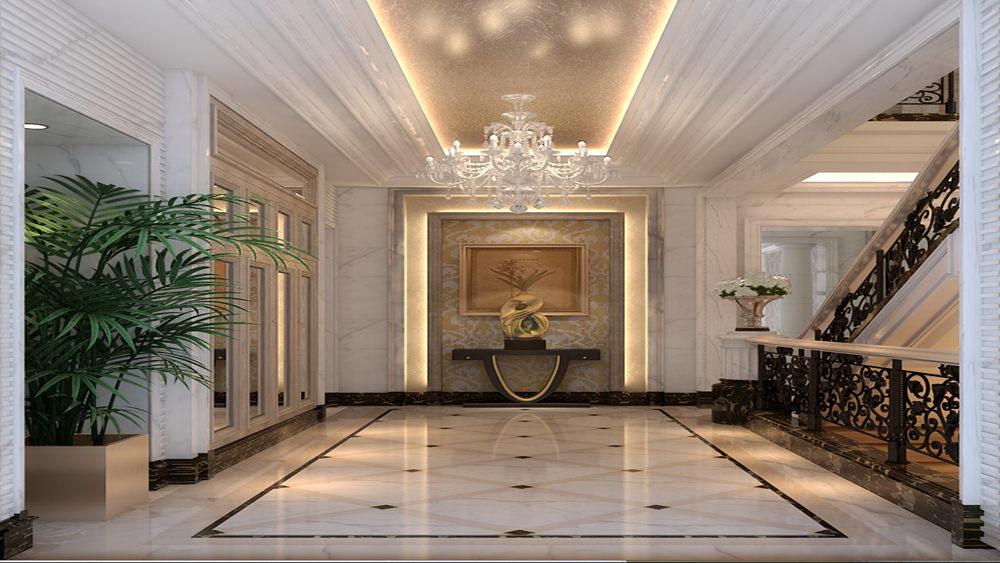 蓝湖君山 别墅 简欧风格 高度国际 装饰设计 玄关图片来自高度国际装饰宋增会在21万别墅 简欧风格的分享