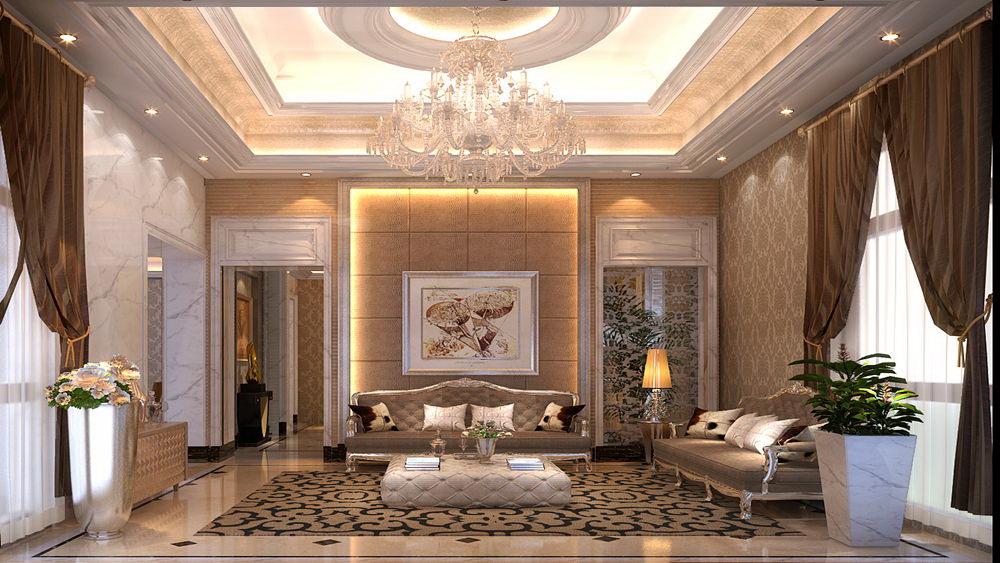 蓝湖君山 别墅 简欧风格 高度国际 装饰设计 客厅图片来自高度国际装饰宋增会在21万别墅 简欧风格的分享