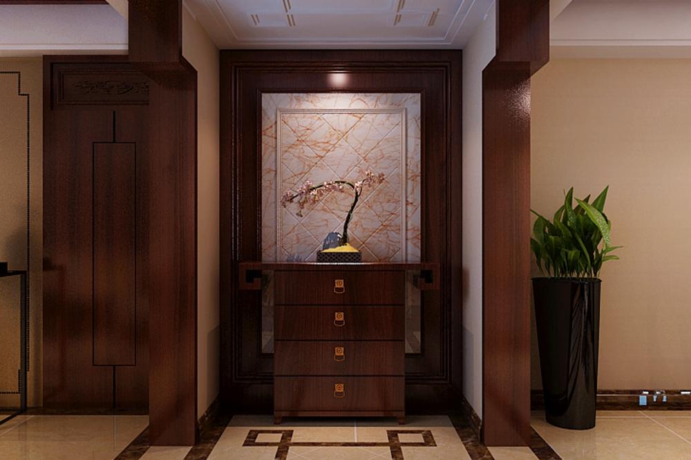 别墅 中式 玄关图片来自石家庄业之峰装饰在天山新公爵简中风格240平米的分享