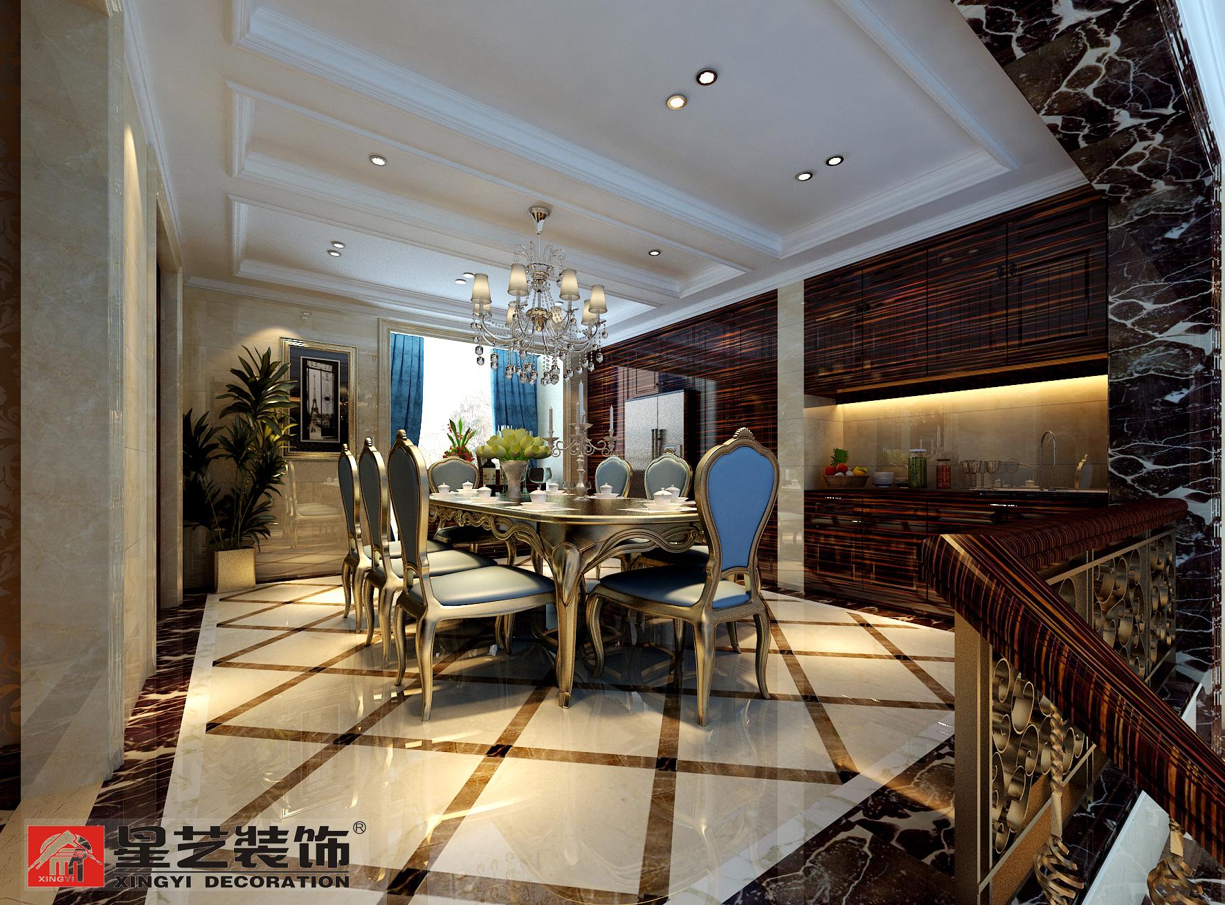 别墅 中式 星艺装饰 餐厅图片来自星艺装饰在贵州在星艺装饰·别墅设计的分享
