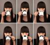 喝水的时候也给自己来一张不一样的脸谱图!