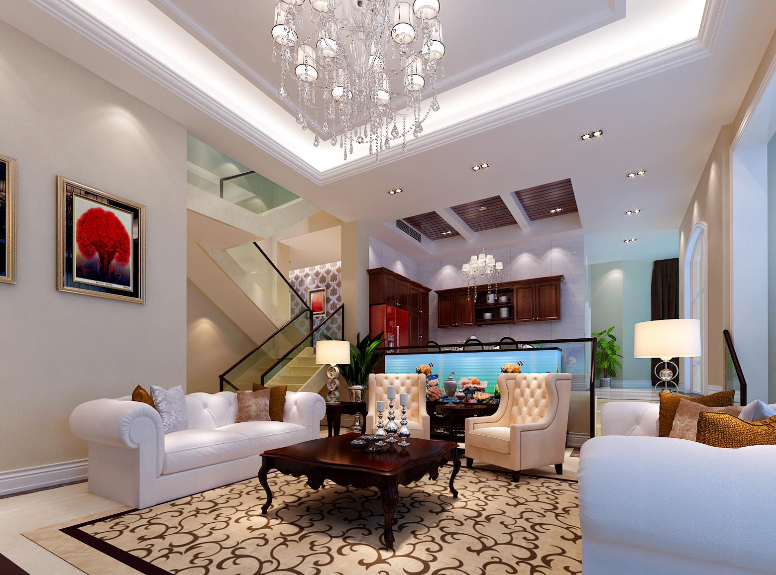 简约 欧式 混搭 别墅 白领 收纳 80后 小资 客厅图片来自实创装饰百灵在大宁山庄独栋600平米混搭别墅的分享