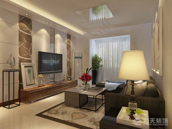 本户型为两室两厅一厨一卫,整体布局合理,设计思路以简洁实用为主。客餐厅地面采用米黄色800*800地砖,在达到健康舒适的条件下又达到了绿色环保的要求。