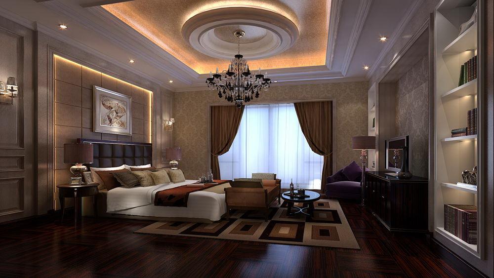 蓝湖君山 别墅 简欧风格 高度国际 装饰设计 卧室图片来自高度国际装饰宋增会在21万别墅 简欧风格的分享