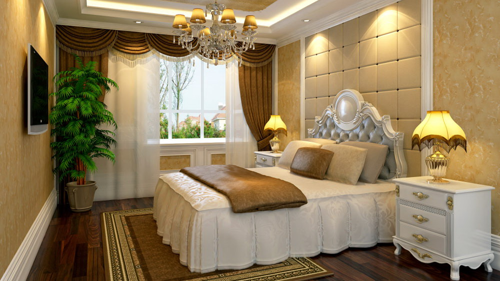 运河湾 三居室 简欧风格 高度国际 装饰设计 卧室图片来自高度国际装饰宋增会在三居室130简欧风格的分享