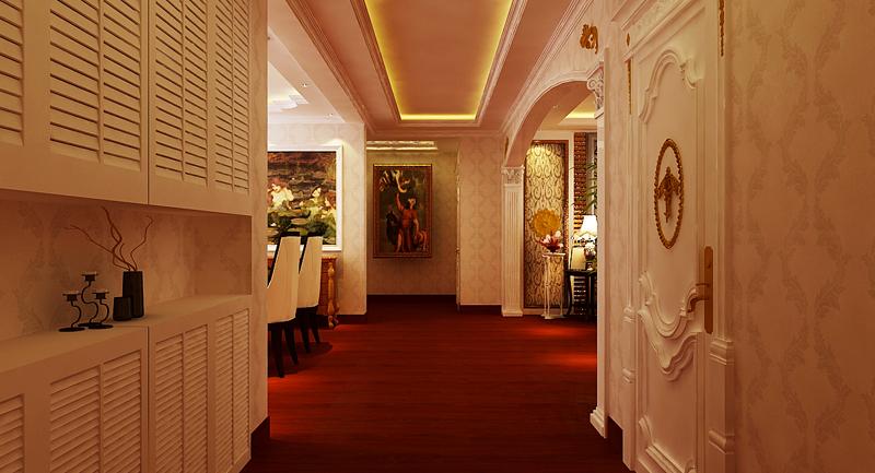 玄关图片来自潍坊万泰装饰在安丘御景园160平欧式风格的分享