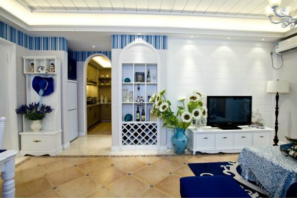 二居 三居 白领 收纳 旧房改造 80后 小资 客厅图片来自今朝装饰小闫在美丽娇妻倾情打造浪漫地中海美宅的分享