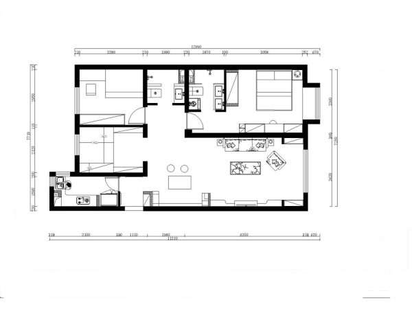 它通过空间设计上的连续的拱门、马蹄形柜等来体现空间的通透,房间功能分区体现独特性,通过一系列开放性和通透性的建筑装饰语言来表达美式乡村装修风格的自由精神内涵