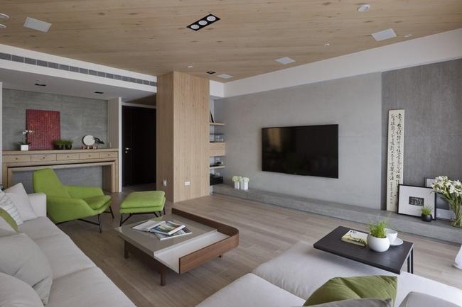 客厅图片来自家装大管家在97平木质清新居 三代同堂幸福宅的分享