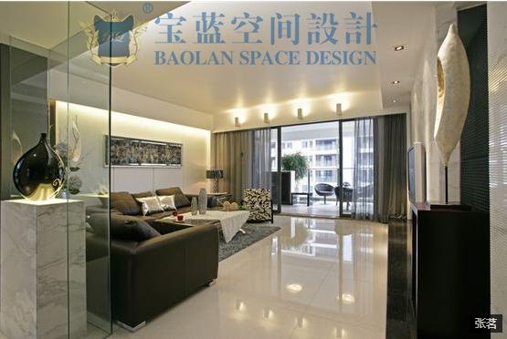 简约 三居 客厅图片来自众意装饰在百瑞景中央生活区现代简约案例的分享