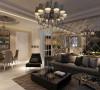 设计理念:客厅是一个具有多功能性的空间,镜面元素更好的体现了风格特点 亮点:大面积采用镜面,使空间看起来具有更强的视觉穿透力,增强客厅的明亮,适合业主年轻的交往环境,喜欢热闹的性格特点。