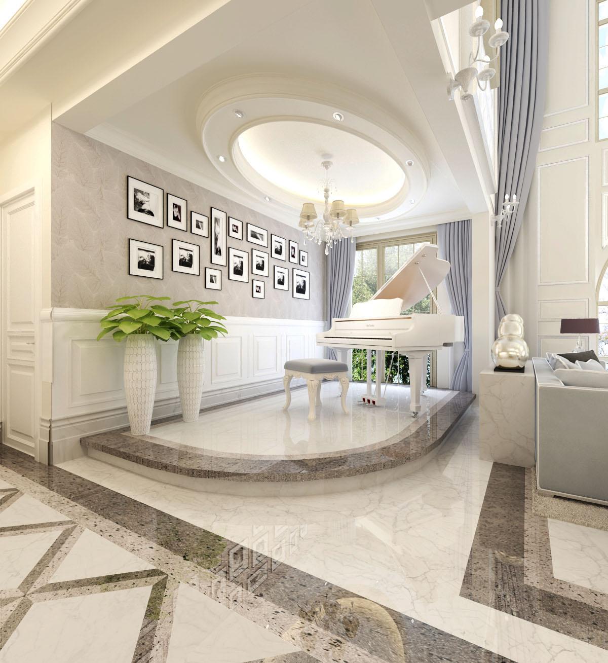 新古典别墅 白色简欧 别墅效果图图片来自383952120x在简欧白色新古典别墅的分享