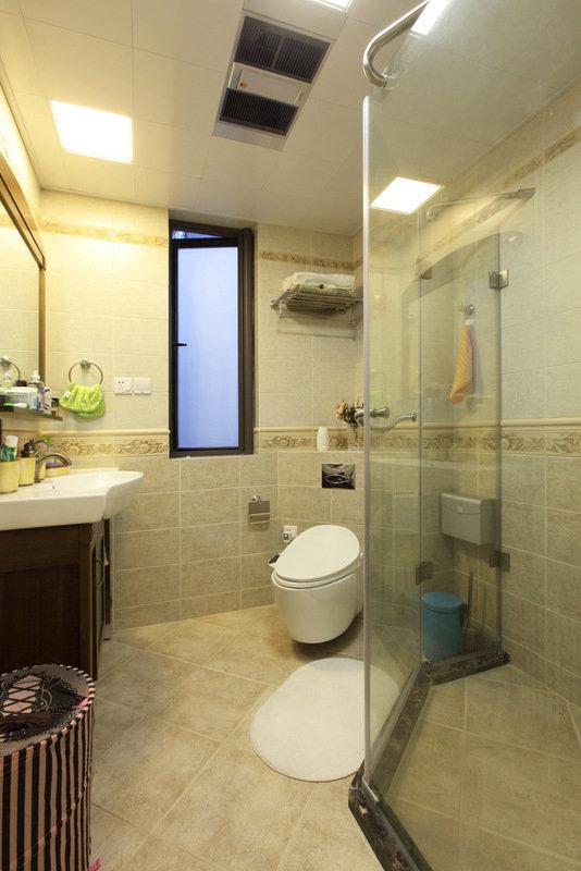 美式 皖匠装饰 家装 卫生间图片来自合肥皖匠装饰朱兴美在97平两房两厅温馨而有爱的家的分享