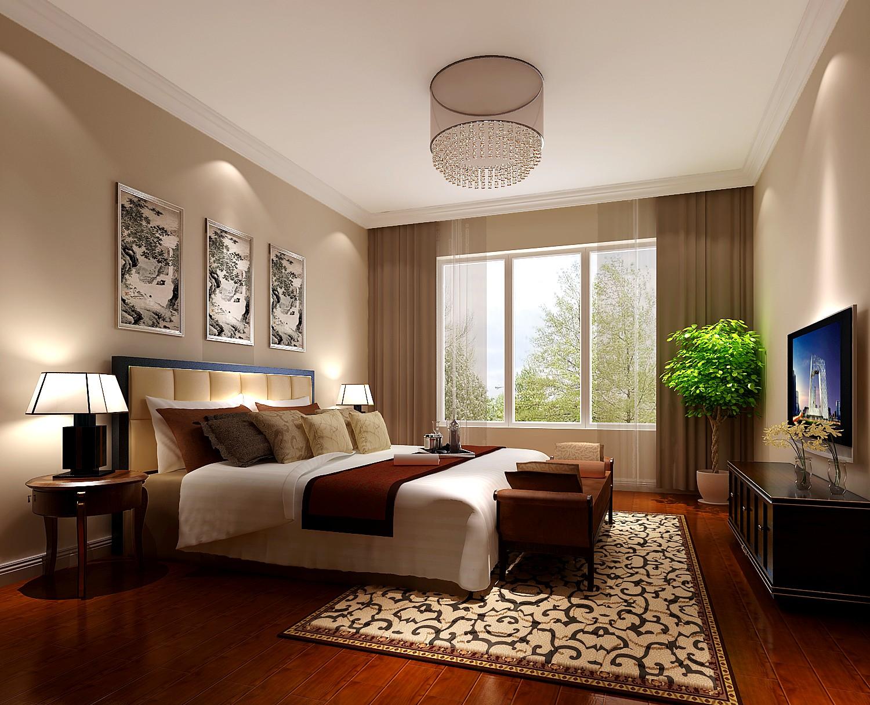 新中式 三居 80后 小资 白领 卧室图片来自沙漠雪雨在东湖湾 8万 新中式三居的分享