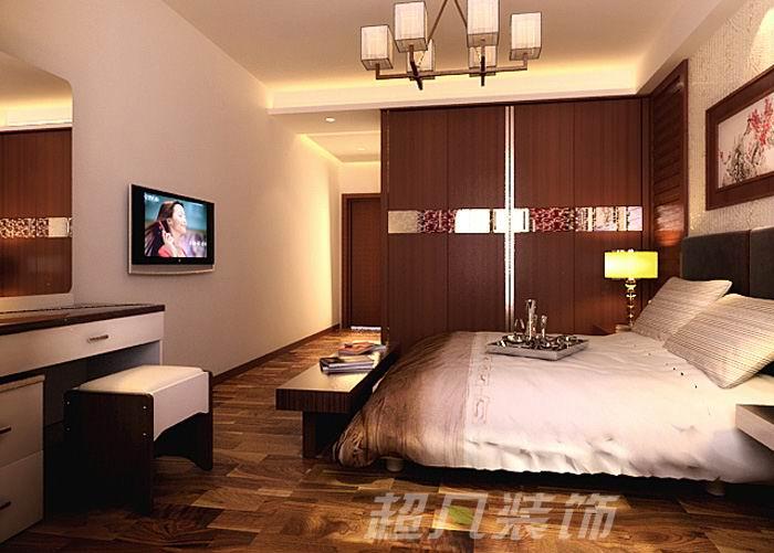 超凡装饰 中央特区 中式设计 装修设计 卧室图片来自郑州超凡装修设计在中央特区135平现代中式优雅风格的分享