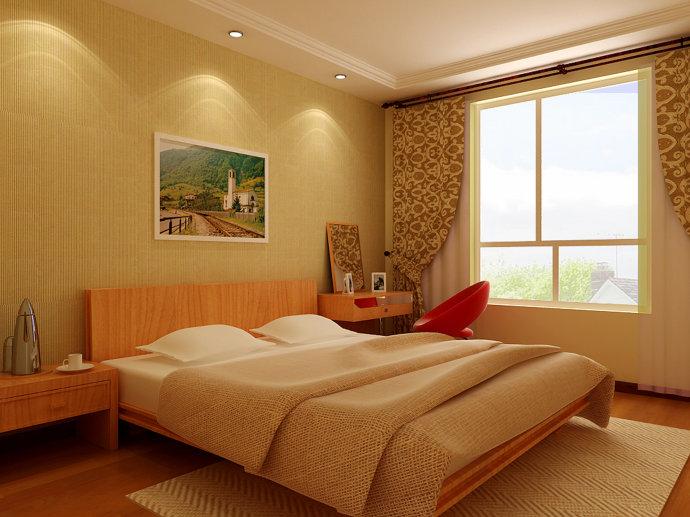 武汉实创 城投瀚城 简约 二居 收纳 卧室图片来自静夜思在城投瀚城现代简约麦田绿色的分享