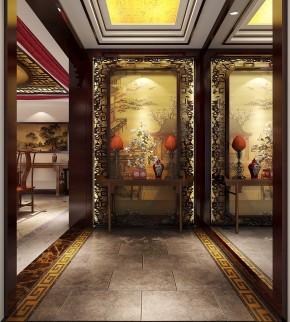 金色漫香苑 高度国际 三居 白领 80后 中式 白富美 高富帅 时尚 玄关图片来自北京高度国际装饰设计在7万打造金色漫香苑中式风采的分享