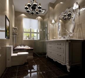 高度国际 托斯卡纳 时尚 美式 简约 别墅 白领 80后 白富美 卫生间图片来自北京高度国际装饰设计在白河孔雀城250平托斯卡纳别墅的分享